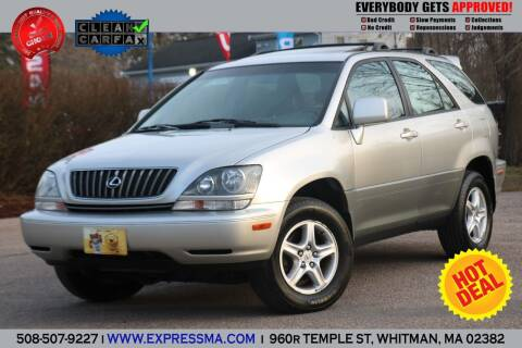 2000 Lexus RX 300 for sale at Auto Sales Express in Whitman MA