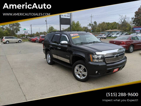 2012 Chevrolet Tahoe for sale at AmericAuto in Des Moines IA