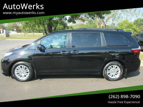 2017 Toyota Sienna for sale at AutoWerks in Sturtevant WI