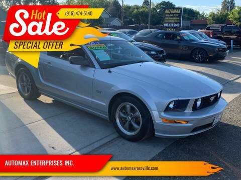 2005 Ford Mustang for sale at AUTOMAX ENTERPRISES INC. in Roseville CA