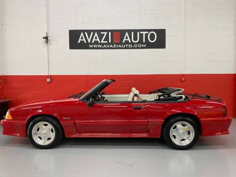 1990 Ford Mustang for sale at AVAZI AUTO GROUP LLC in Gaithersburg MD