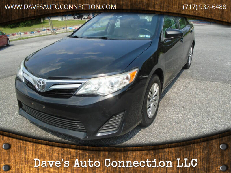 2013 Toyota Camry for sale at DAVES AUTO CONNECTION in Etters PA