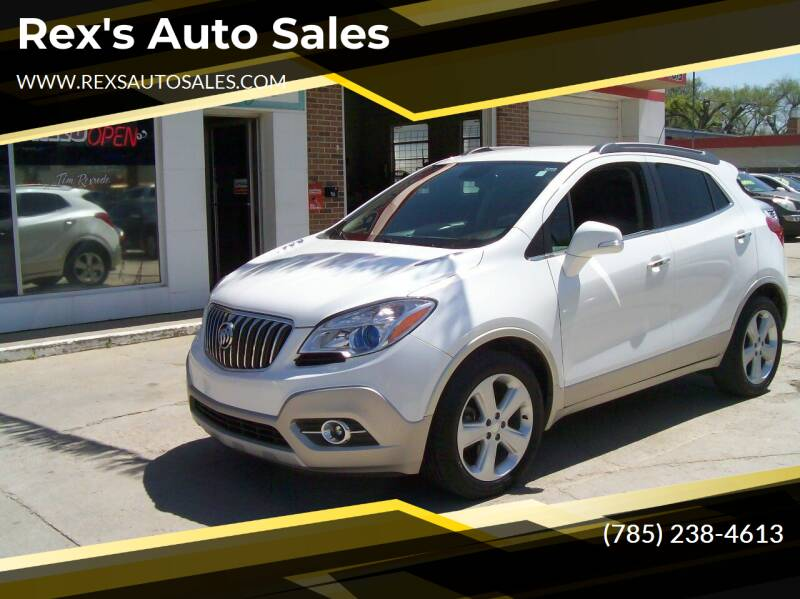 2016 Buick Encore for sale at Rex's Auto Sales in Junction City KS