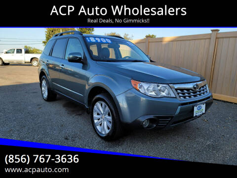 2012 Subaru Forester for sale at ACP Auto Wholesalers in Berlin NJ