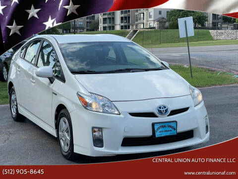 2010 Toyota Prius for sale at Central Union Auto Finance LLC in Austin TX