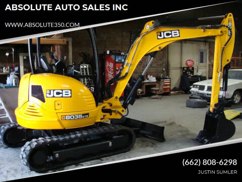 2017 JCB 8035 ZTS MINI EXCAVATOR for sale at ABSOLUTE AUTO SALES INC in Corinth MS