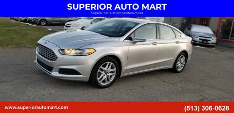 2013 Ford Fusion for sale at SUPERIOR AUTO MART in Amelia OH