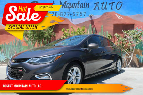 2016 Chevrolet Cruze for sale at DESERT MOUNTAIN AUTO LLC in Tucson AZ