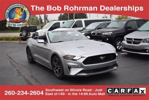 2020 Ford Mustang for sale at BOB ROHRMAN FORT WAYNE TOYOTA in Fort Wayne IN