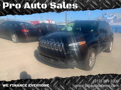 2015 Jeep Cherokee for sale at Pro Auto Sales in Lincoln Park MI