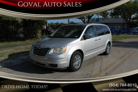 2008 Chrysler Town and Country for sale at Goval Auto Sales in Pompano Beach FL