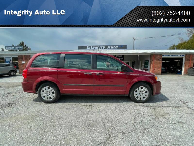 2014 Dodge Grand Caravan for sale at Integrity Auto LLC - Integrity Auto 2.0 in St. Albans VT