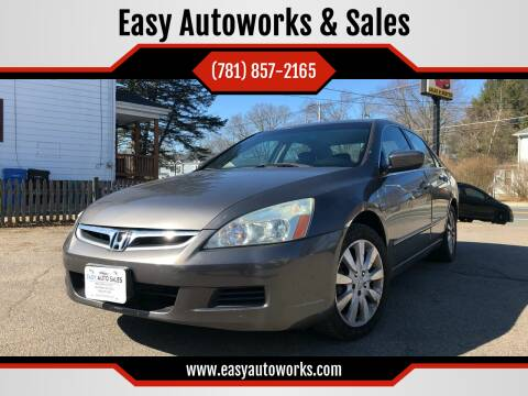 2006 Honda Accord for sale at Easy Autoworks & Sales in Whitman MA