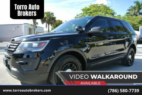 2016 Ford Explorer for sale at Torro Auto Brokers in Miami FL