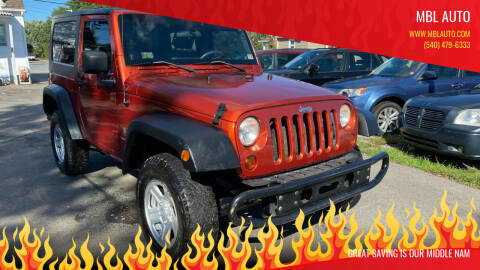 2009 Jeep Wrangler for sale at MBL Auto in Fredericksburg VA