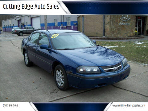 2003 Chevrolet Impala for sale at Cutting Edge Auto Sales in Willoughby OH