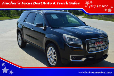 2015 GMC Acadia for sale at Fincher's Texas Best Auto & Truck Sales in Tomball TX