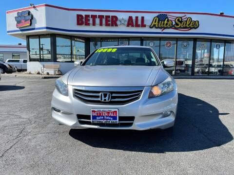 2012 Honda Accord for sale at Better All Auto Sales in Yakima WA
