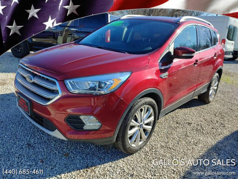 2017 Ford Escape for sale at Gallo's Auto Sales in North Bloomfield OH