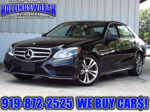 2014 Mercedes-Benz E-Class for sale at Hollingsworth Auto Sales in Raleigh NC