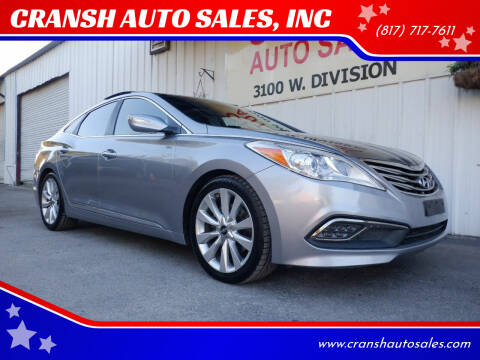 2015 Hyundai Azera for sale at CRANSH AUTO SALES, INC in Arlington TX