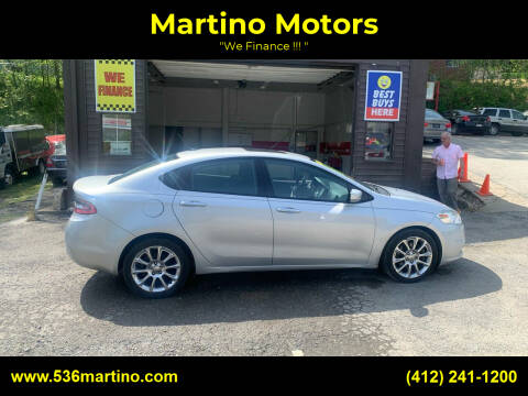 2013 Dodge Dart for sale at Martino Motors in Pittsburgh PA