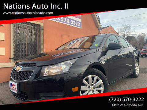 2011 Chevrolet Cruze for sale at Nations Auto Inc. II in Denver CO