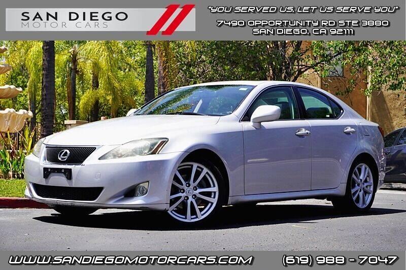2006 Lexus IS 250 for sale at San Diego Motor Cars LLC in San Diego CA