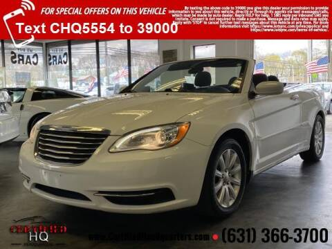 2013 Chrysler 200 Convertible for sale at CERTIFIED HEADQUARTERS in St James NY