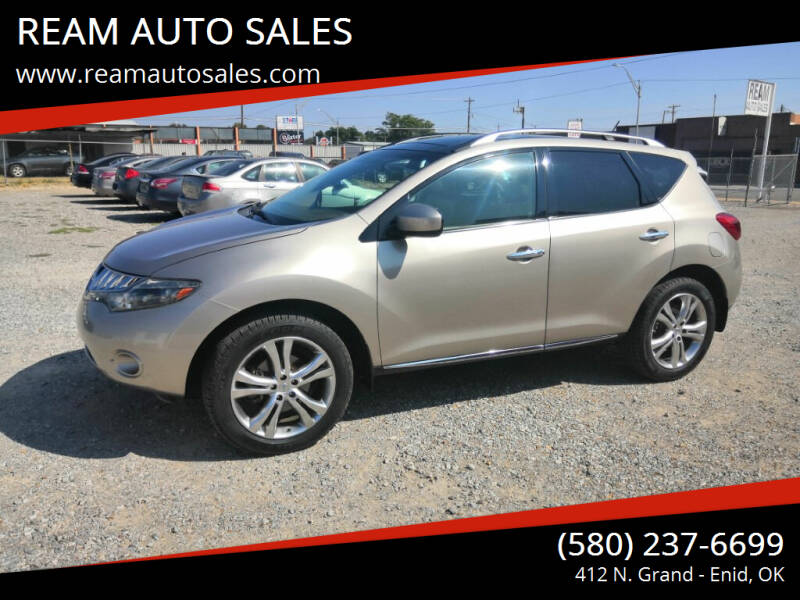2010 Nissan Murano for sale at REAM AUTO SALES in Enid OK