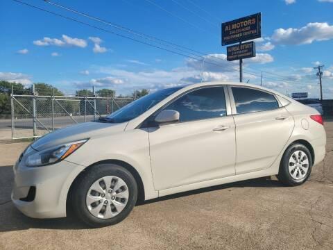 2016 Hyundai Accent for sale at AI MOTORS LLC in Killeen TX