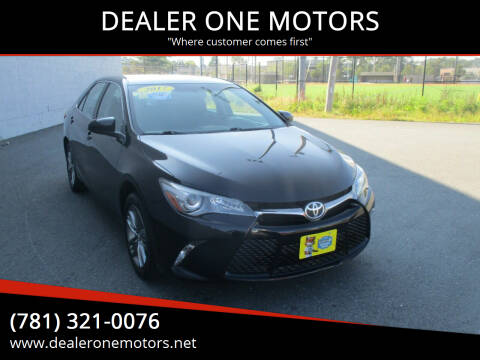 2017 Toyota Camry for sale at DEALER ONE MOTORS in Malden MA