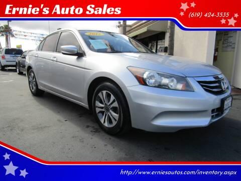 2012 Honda Accord for sale at Ernie's Auto Sales in Chula Vista CA
