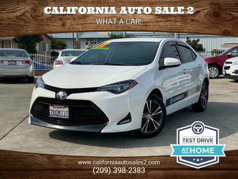 2017 Toyota Corolla for sale at CALIFORNIA AUTO SALE 2 in Livingston CA