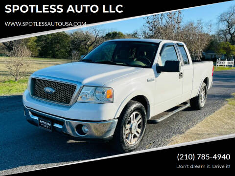 2006 Ford F-150 for sale at SPOTLESS AUTO LLC in San Antonio TX