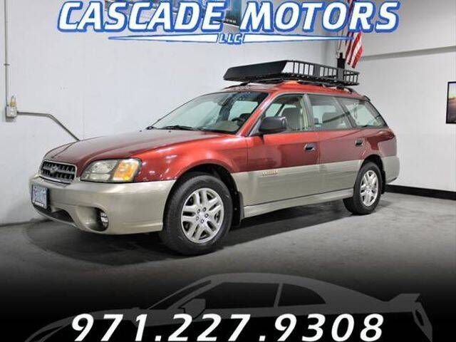 2003 Subaru Outback for sale at Cascade Motors in Portland OR