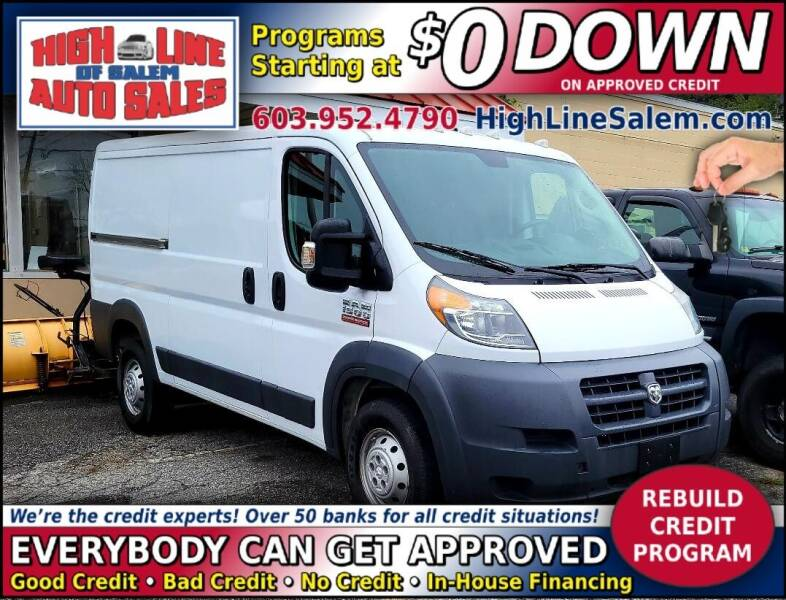 2017 RAM ProMaster Cargo for sale at High Line Auto Sales of Salem in Salem NH