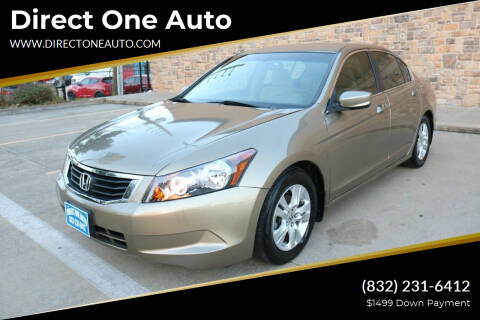 2009 Honda Accord for sale at Direct One Auto in Houston TX