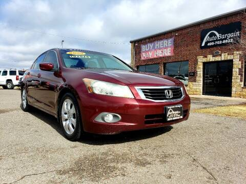 2008 Honda Accord for sale at AUTO BARGAIN, INC. #2 in Oklahoma City OK