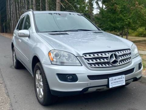 2006 Mercedes-Benz M-Class for sale at CLEAR CHOICE AUTOMOTIVE in Milwaukie OR