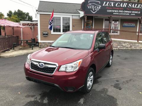 2014 Subaru Forester for sale at Lux Car Sales in South Easton MA