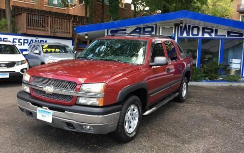 2004 Chevrolet Avalanche for sale at Car World Inc in Arlington VA