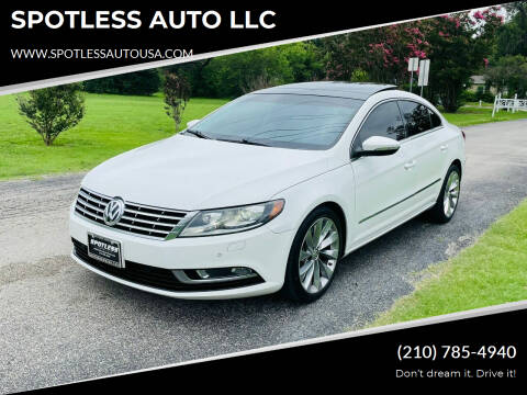 2013 Volkswagen CC for sale at SPOTLESS AUTO LLC in San Antonio TX