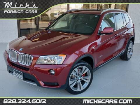 2012 BMW X3 for sale at Mich's Foreign Cars in Hickory NC