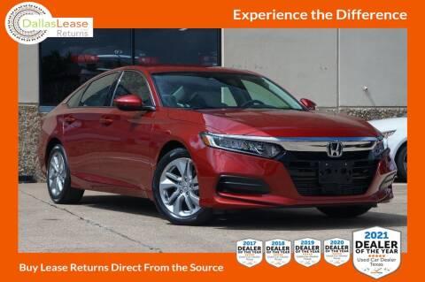 2020 Honda Accord for sale at Dallas Auto Finance in Dallas TX