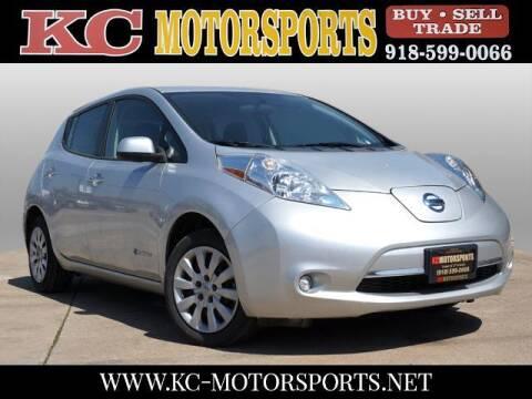 2017 Nissan LEAF for sale at KC MOTORSPORTS in Tulsa OK
