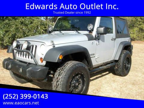 2012 Jeep Wrangler for sale at Edwards Auto Outlet Inc. in Wilson NC