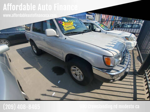 2000 Toyota 4Runner for sale at Affordable Auto Finance in Modesto CA