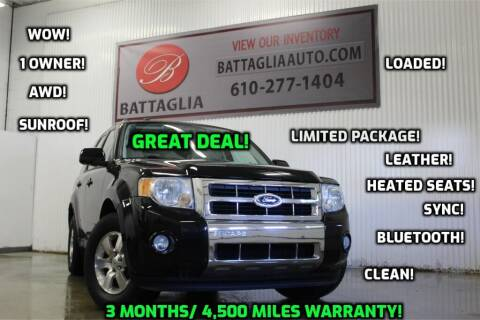2010 Ford Escape for sale at Battaglia Auto Sales in Plymouth Meeting PA