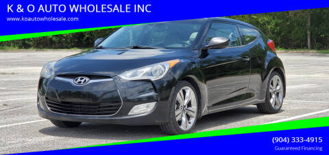 2013 Hyundai Veloster for sale at K & O AUTO WHOLESALE INC in Jacksonville FL